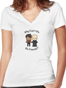 Harry & Voldemort Women's Fitted V-Neck T-Shirt