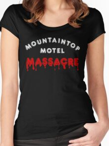 Mountaintop Motel Massacre (Main Title) Women's Fitted Scoop T-Shirt