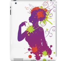 Female silhouette with swirls iPad Case/Skin