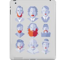 Well-known Beards and Mustaches iPad Case/Skin