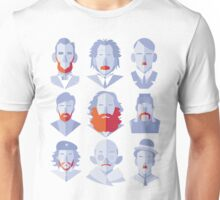 Well-known Beards and Mustaches Unisex T-Shirt