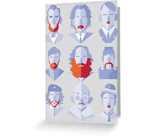 Well-known Beards and Mustaches Greeting Card