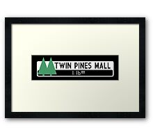Twin Pines Mall logo (Back to the Future) Framed Print