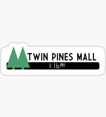 Twin Pines Mall logo (Back to the Future) Sticker