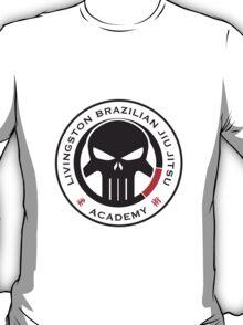 Livingston Brazilian Jiu Jitsu Academy Badge T-Shirt