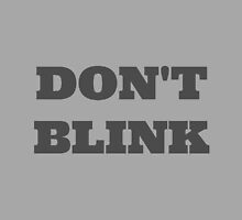 Doctor Who - Don't Blink by galacticthought