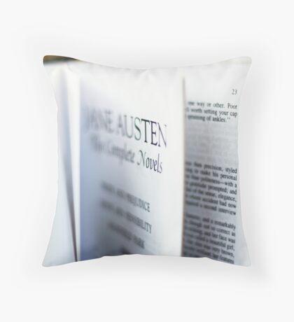 Jane Austen: Complete Works Throw Pillow