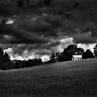 The House on The Hill (Monotone) by Carly Chapman