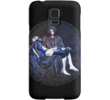 Earth Pietà (Michelangelo) Through Notre Dame Stained Glass Rosette. Samsung Galaxy Case/Skin