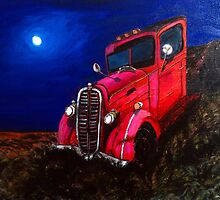 Red Rusty Vintage Truck by DWolfDesigns