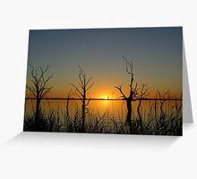 save lake Bonney sunset Greeting Card