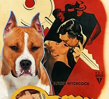 American Staffordshire Terrier Art Canvas Print - Notorious Movie Poster by NobilityDogs