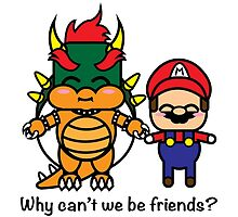 Bowser & Mario by JRoxDesign