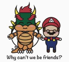Bowser & Mario One Piece - Short Sleeve