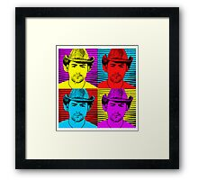 smokin' man Framed Print