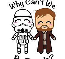 Stormtrooper & Obi-Wan Kenobi by JRoxDesign