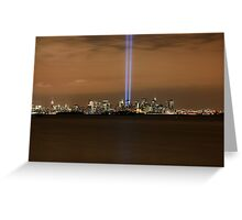 9/11 Memorial  New York Greeting Card
