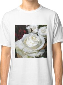Close up of white rose 16 Classic T-Shirt