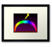 C O R E (Colours Of Rainbow Electrocuted) Framed Print