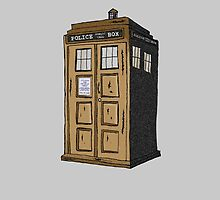 Police Box In Sepia by greatandsmall