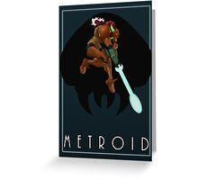 Metroid - Samus Greeting Card