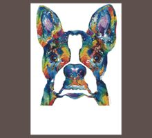 Colorful Boston Terrier Dog Pop Art - Sharon Cummings Kids Clothes