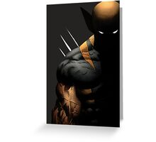 dark wolverine Greeting Card