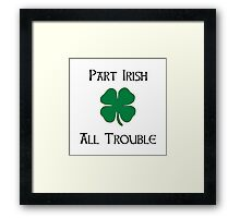 Part Irish Framed Print