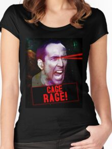 Nicolas Cage Rage! Women's Fitted Scoop T-Shirt