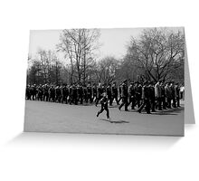 Boys Love to March Greeting Card
