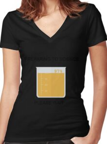 Preparing to Science Women's Fitted V-Neck T-Shirt
