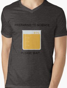 Preparing to Science Mens V-Neck T-Shirt