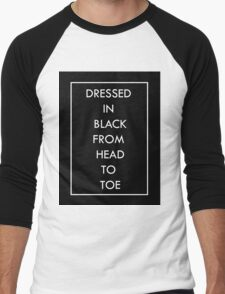 Black Men's Baseball ¾ T-Shirt