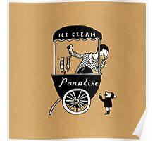"Ice Cream ""Paradise"" Poster"