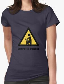 Computer Privacy Womens Fitted T-Shirt