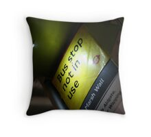 Bus stop not in use Throw Pillow