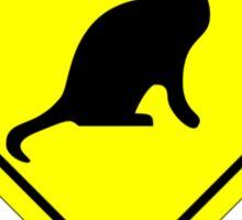 Crazy Cat Person Sticker