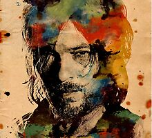 Watercolor Daryl by Tracey Gurney