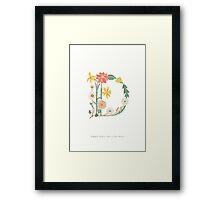 Botanical Letter D Framed Print