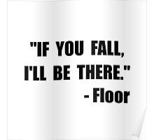 Fall Floor Quote Poster