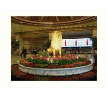Gold Lion MGM Grand Art Print