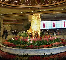 Gold Lion MGM Grand by glennmp