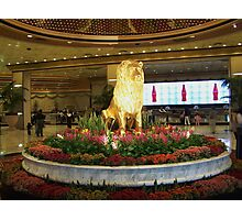 Gold Lion MGM Grand Photographic Print