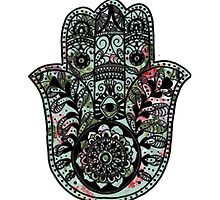 Floral Hamsa by foreversarahx