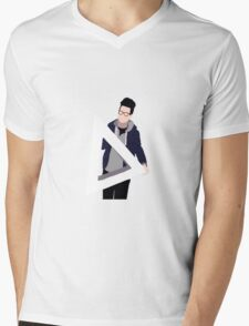 Transparent Triangle Dan Mens V-Neck T-Shirt