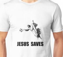 Jesus Saves Soccer Unisex T-Shirt