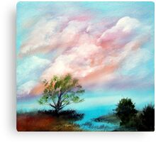 Water Front Sunset Canvas Print