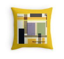 GOLD multicolor, block design Throw Pillow