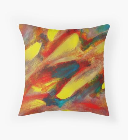 Energetic Interaction Throw Pillow