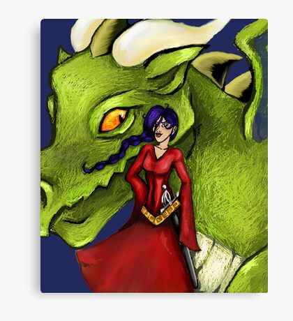 Dealing with fantasy Canvas Print